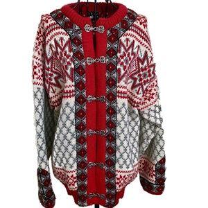 VTG Dale of Norway Nordic Wool Cardigan Sweater